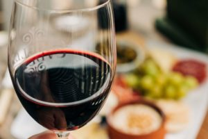 Wine and aperitif platter
